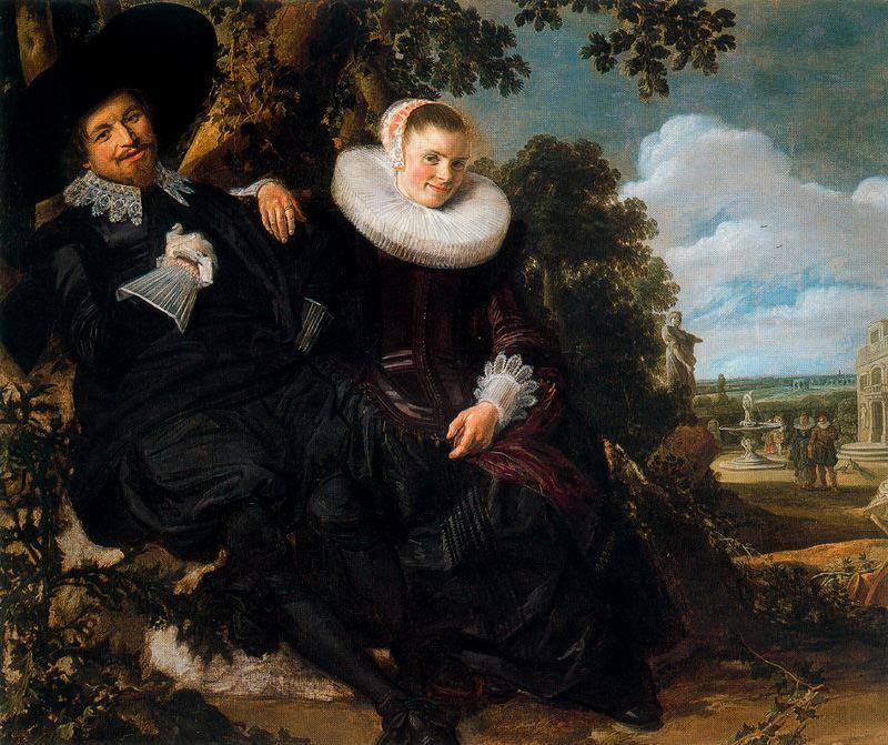 Retrato nupcial de Isaac Abrahamsz Massa y Beatrix van der Laen