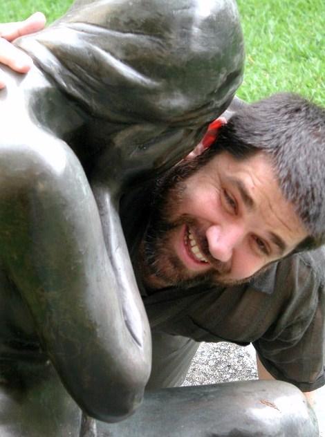 Jose Antonio Gutierrez Caballero en la Galeria de Arte Nacional, Caracas, 2004
