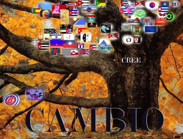 El Árbol Infinito de todas las Banderas, concebido y regado por la savia visionaria de Margarita García Alonso.