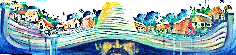 La pintura EL ARCA DE NO ES, de Ignacio Pérez Vázquez, en los poemas de Josan Caballero.