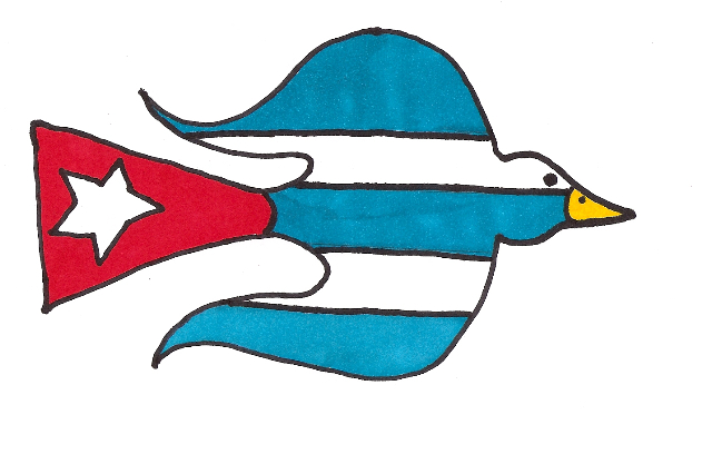 LA PALOMA DE LA LIBERTAD DE EXPRESIÓN Y LA LIBRE COMUNICACIÓN ENTRE CUBANOS DE CUALQUIER HEMISFERIO, creada por Josán Caballero y Gian Pietro Cazzago para el Movimiento CON TODAS LAS BANDERAS.