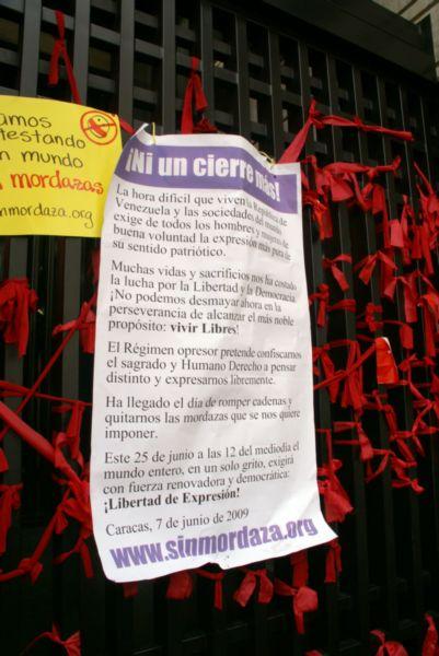 Declaración de Amordazados en Venezuela, foto de Cecilia Rodríguez.