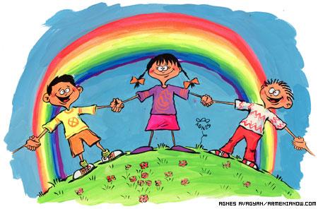 Arcoiris para los Niños en su día...