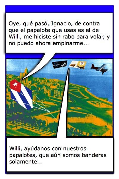 Papalote Bandera de Ignacio T. Granados y, al mismo tiempo, de Willi Trapiche, del Blog Cubaleah, pues es su bandera.