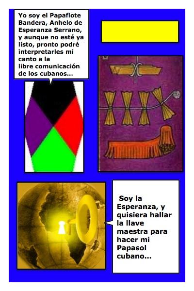 El nuevo Papalote Bandera de Esperanza, del Blog Anhelos y Esperanzas, de Esperanza Serrano, creado por Piero y Josán, con historieta de Josán Caballero.