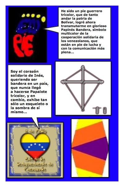 ¨Primera versión del Papinés, Papalote Bandera de Inés de Cuevas, creado por Piero y Josán, con la historieta de Josán Caballero.