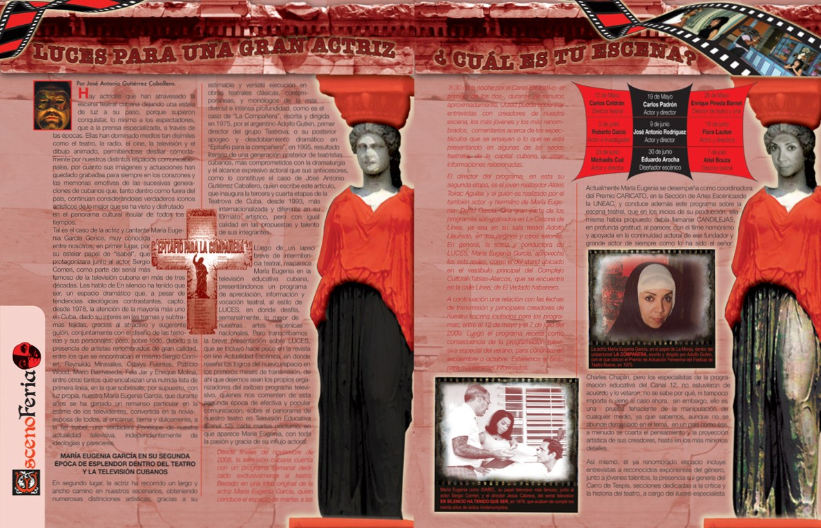 ESCENOFERIA, una sección para la trayectoria de María Eugenia García Gonce, con sus obras teatrales...