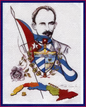 José Martí, Cuba y los símbolos patrios, en Alpha 66.