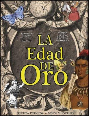 Portada de una edición reciente de LA EDAD DE ORO, de José Martí, aparecida en el Blog La Edad de Oro...