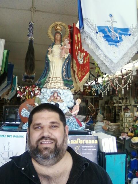 Josán Caballero y la Virgen de La Caridad del Cobre...