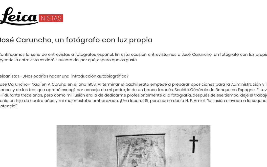 José Caruncho, un fotógrafo con luz propia – Leicanistas