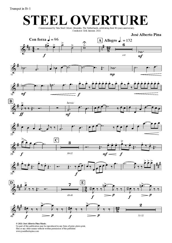 STEEL OVERTURE - 019 Trumpet in Bb 1