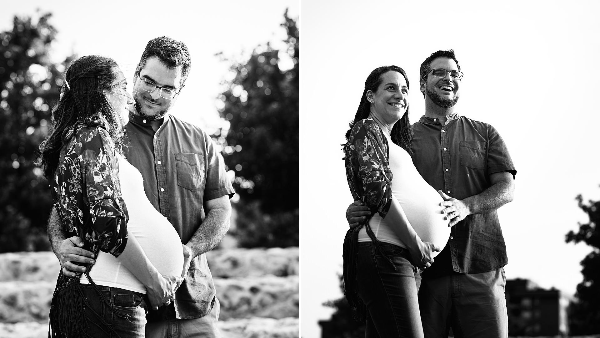 Fotografía de embarazo en Moratalaz. DBM - José Álvarez Fotografía