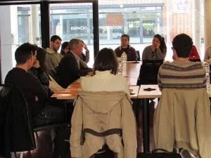 'Un café en el campus', charla de Benito Orihuel a los alumnos de la UPV-campus de Gandía