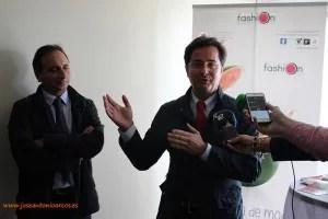Francisco Góngora, alcalde de El Ejido, junto al presidente de AGF.