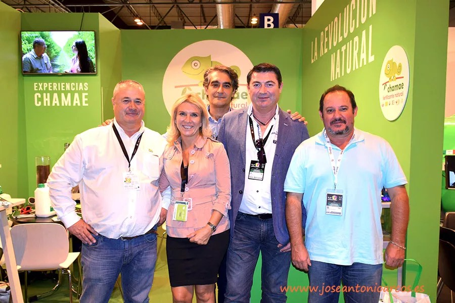 Responsables de Chamae con el auditor José Antonio Fernández, CERES Certifield,organismo alemán de certificación ecológica.