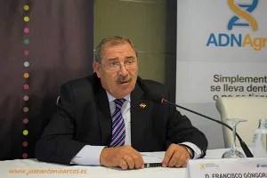 Francisco Góngora, presidente de Hortiespaña, en la jornada técnica 2016 de Cooperativas Agro-alimentarias en Almería, El Ejido.