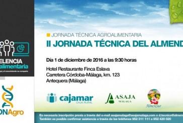 Día 1 de diciembre. II Jornada técnica del almendro. Málaga