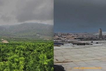 Efectos de la lluvia: buena para el cítrico valenciano y amenazante para la sandía almeriense