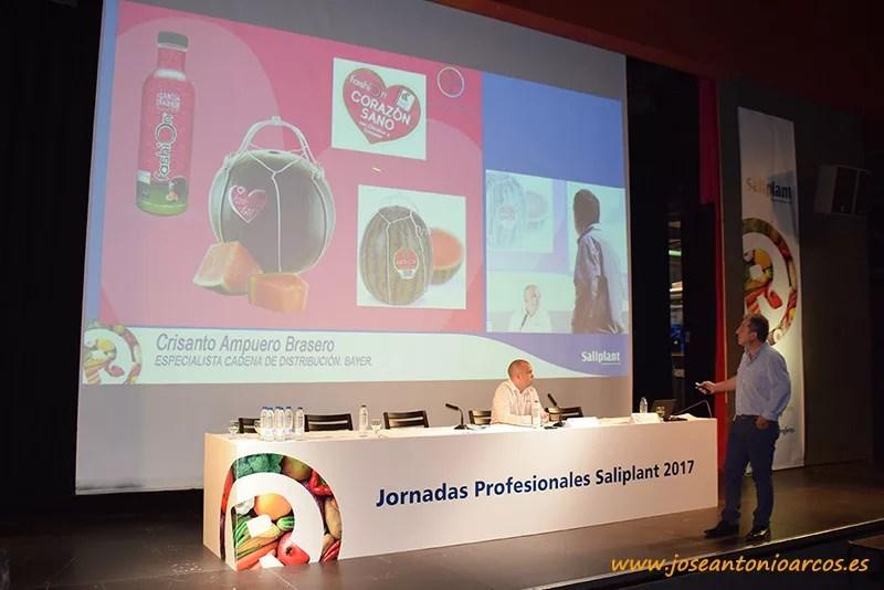 Crisanto Ampuero, de Bayer. Sandía Fashion en las jornadas de Saliplant en Motril, Granada.