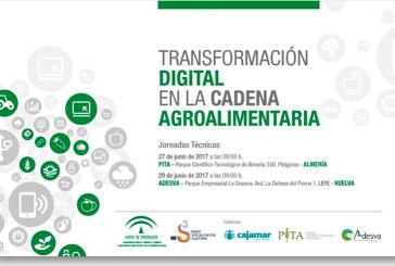 Días 27 y 29 de junio. Jornadas de 'Transformación digital en la cadena agroalimentaria'