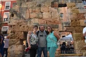 Con Helena y Meritxell en Tarragona, Cataluña.