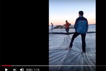 Agricultores de la costa se suben a las cubiertas para evitar el derribo