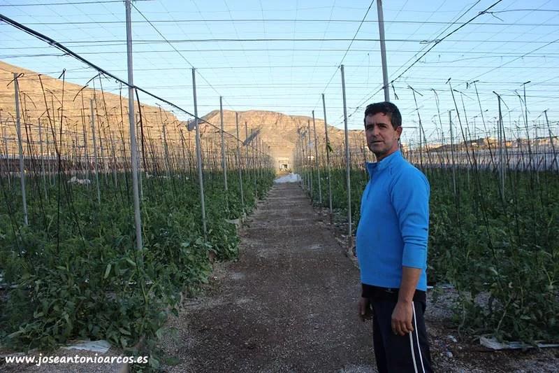 Antonio Antequera, agricultor afectado por el temporal Ana.