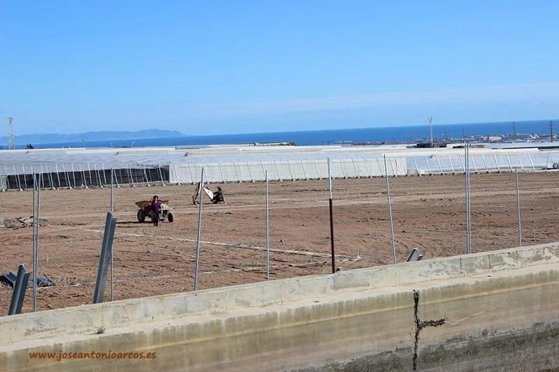 Construcción de invernaderos en Almería.