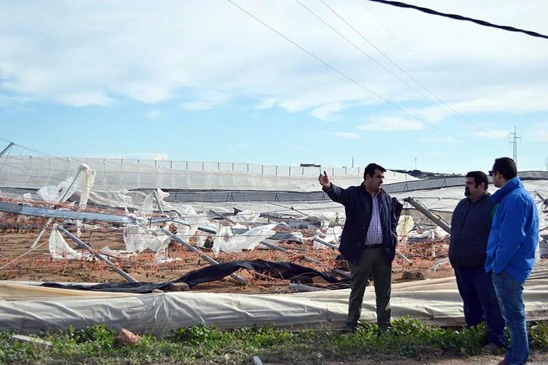 Daños de los tornados del 6 de enero de 2018 en El Ejido, Almería.