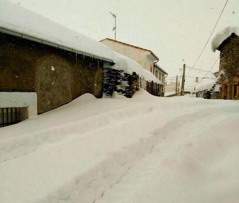 Nieve en la Solana de Ávila.
