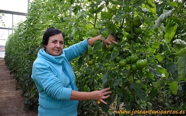 María Torres, agricultora almeriense.