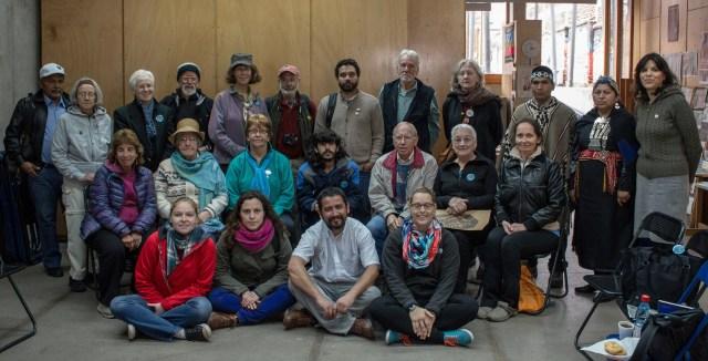 Delegación Internacional de Observadores SOA Watch contra la Escuela de las Américas en Casa Memoria José Domingo Cañas.