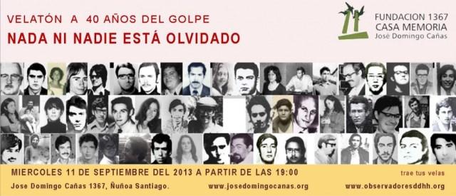 Invitación Velatón conmemorativa 11 de septiembre del 2013