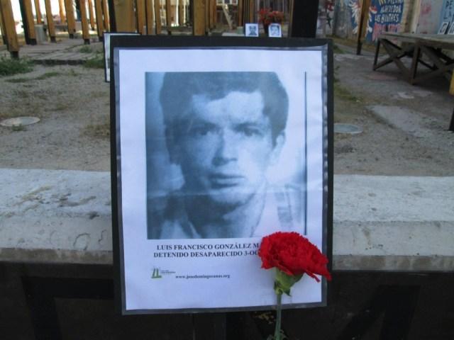 Luis Francisco González Manriquez. Detenido Desaparecido el 3 de octubre de 1974.