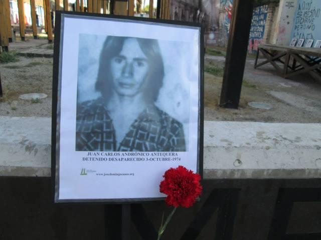 Juan Carlos Andrónicos Antequera. Detenido Desaparecido el 3 de octubre de 1974.