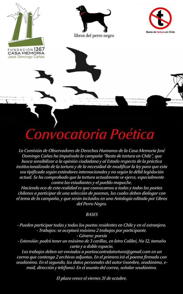Convocatoria Poetas contra la Tortura