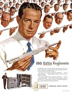 Ingénieurs - Publicité IBM 1950-1960