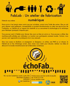 Écho Fab : atelier numérique communautaire