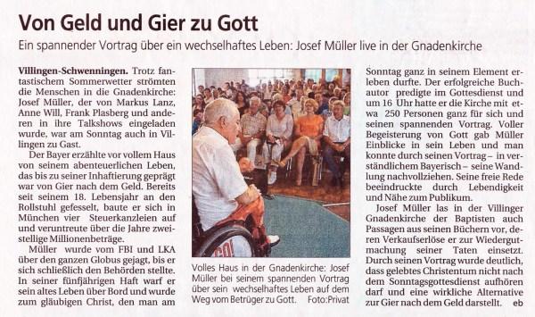 Villingen Schw. Bericht in Neckarquelle 18.7.16