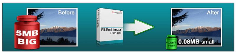FILEminimizer Pictures - Herramienta para comprimir fotos