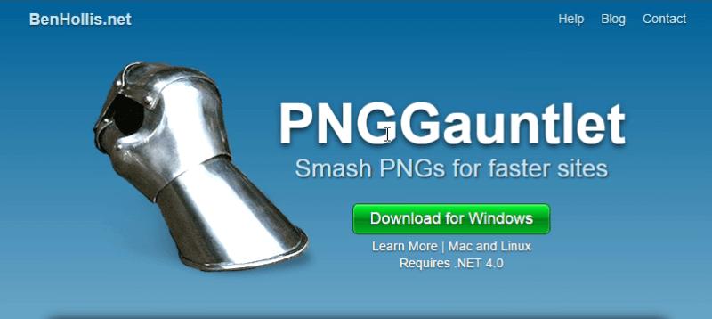 PNGGauntlet - Herramienta para comprimir fotos