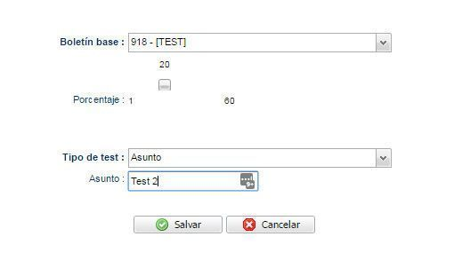 Crea tu test A/B