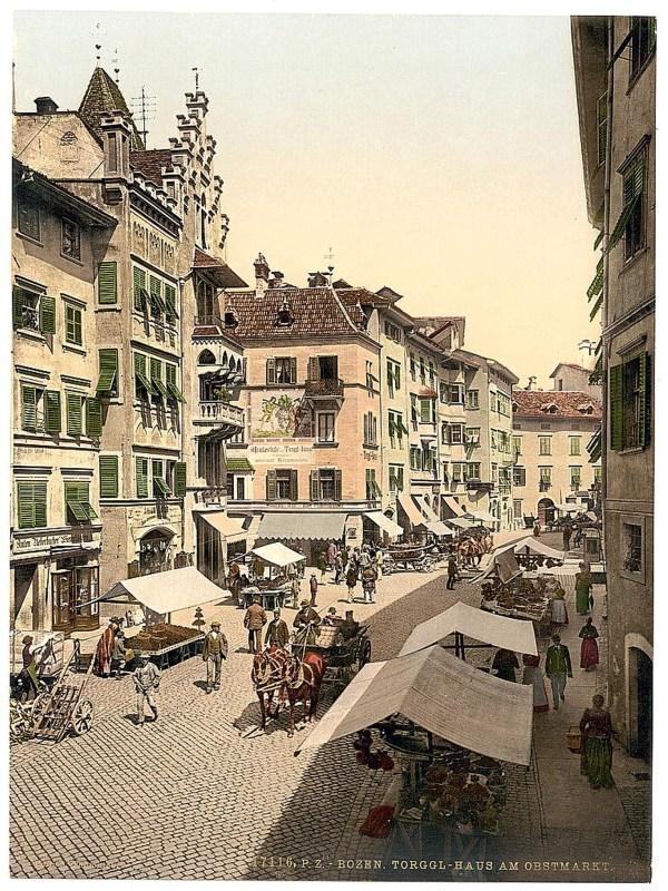 Bozen 1890, Obstmarkt