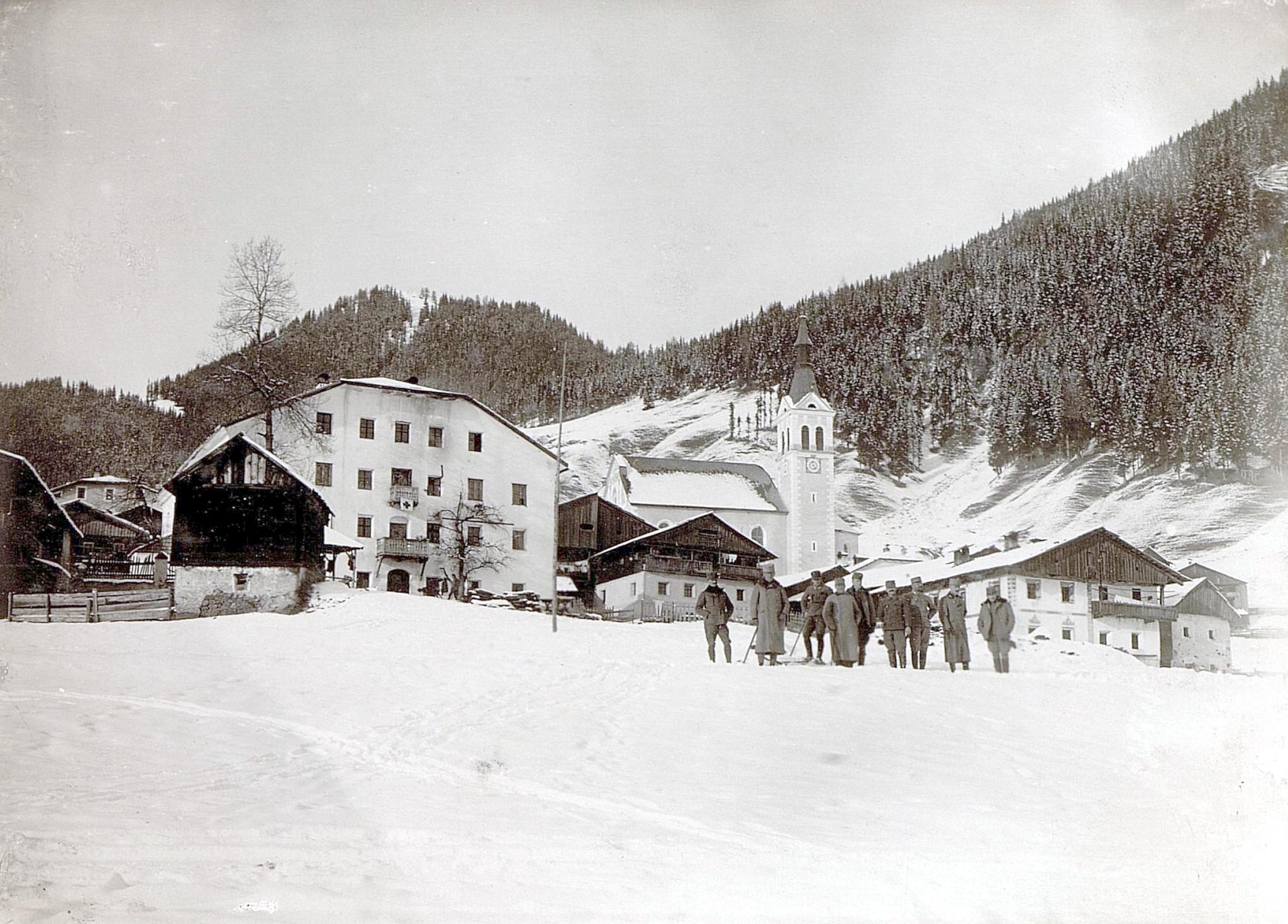Obertilliach 1916, Dorfbild