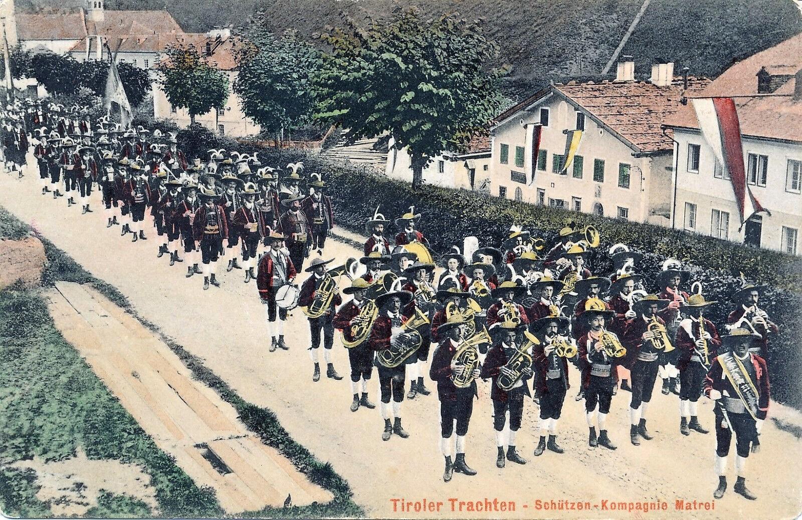 Matrei 1903, Musikkapelle und Schützen
