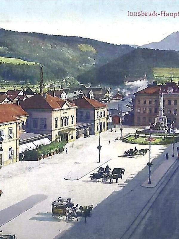 Innsbruck 1900, Bahnhofsplatz