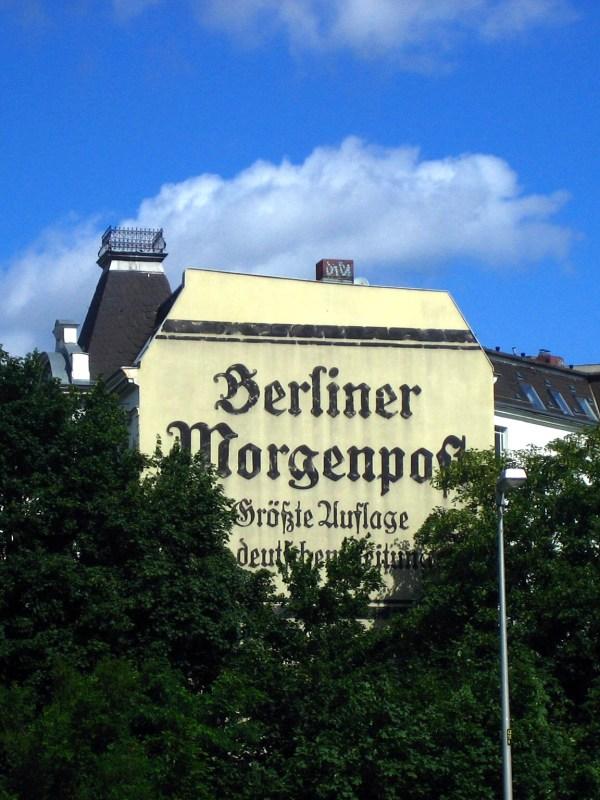 Berlin 2009, Zeitungs-Reklame