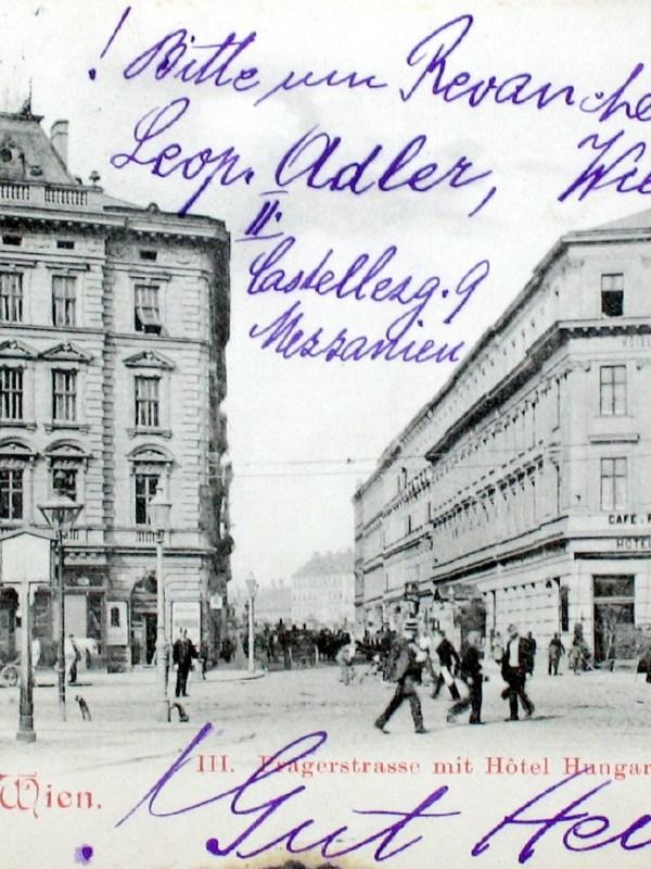 Wien 1899, Hotel Hungaria