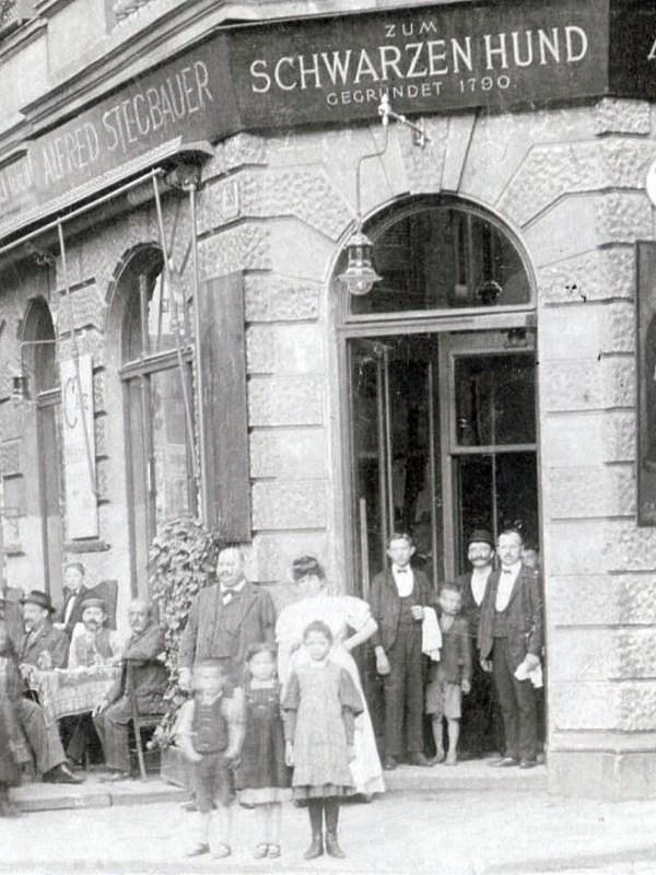Wien 1905, Gasthaus zum Schwarzen Hund